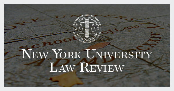 Global Data Privacy: The EU Way - NYU Law Review